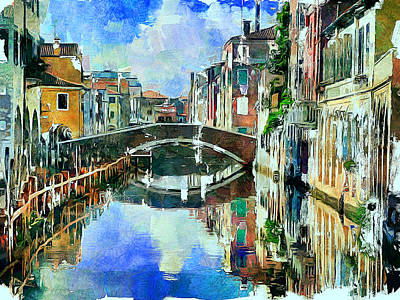 Digital Art - Beautiful Venice by Yury Malkov