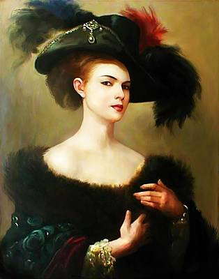 Painting - Beautiful Victorian Lady by Joy of Life Arts Gallery