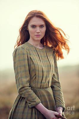 Photograph - Beautiful Victorian Redhead Woman  by Lee Avison
