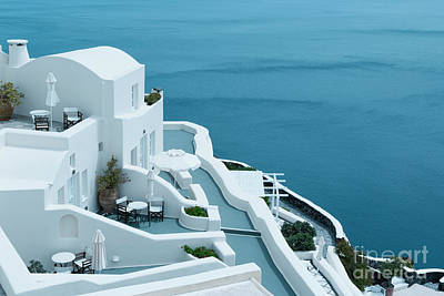 Architecture Photograph - Beautiful View In Oia, Santorini, Greece by Dani Prints and Images