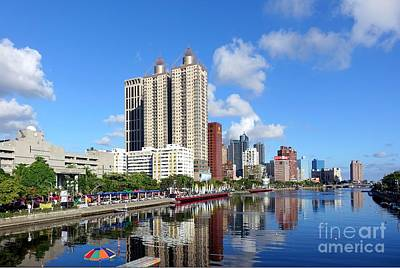 Photograph - Beautiful View Of The Love River In Kaohsiung by Yali Shi