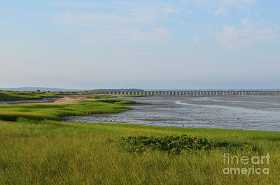 Beautiful Views Of Powder Point Bridge And Duxbury Bay Art Print