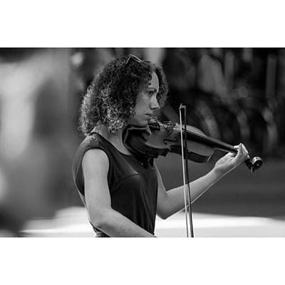 Music Wall Art - Photograph - Beautiful Violinist On The Streets Of by Owen Hedley Photography