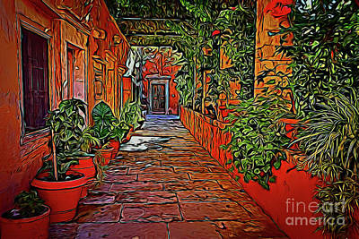 Photograph - Beautiful Walkway 19318 by Ray Shrewsberry
