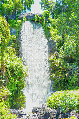 Beautiful Waterfall  Art Print by Art Spectrum