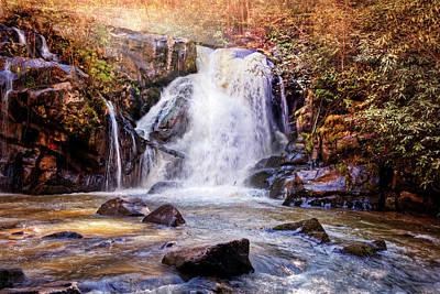 Photograph - Beautiful Waterfall by Debra and Dave Vanderlaan