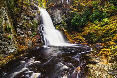 Beautiful Waterfall In Bushkill Falls State Park Pa Usa Art Print by Vishwanath Bhat