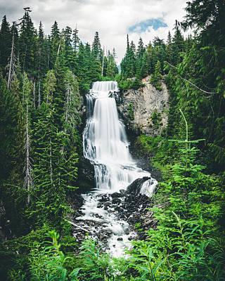 Photograph - Beautiful Waterfall Long Exposure In British Columbia Wilderness by Open Range