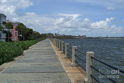 Beautiful Waterfront Walkway Art Print