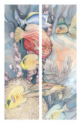 Ocean Turtle Painting - Beautiful Waters by Liduine Bekman