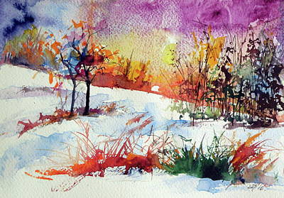 Winter Landscapes Painting - Beautiful Winter by Kovacs Anna Brigitta