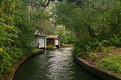 Photograph - Beautiful Winter Park Canal Boathouses by Denise Mazzocco