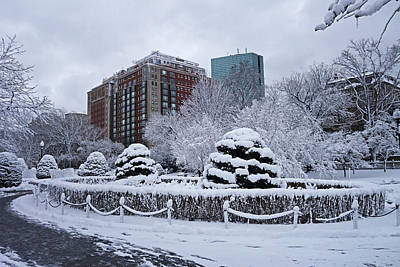Photograph - Beautiful Winter Wonderland In The Boston Public Garden Boston Ma by Toby McGuire