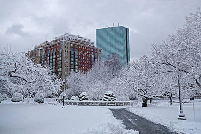 Photograph - Beautiful Winter Wonderland In The Boston Public Garden Boston Ma Wonderland by Toby McGuire