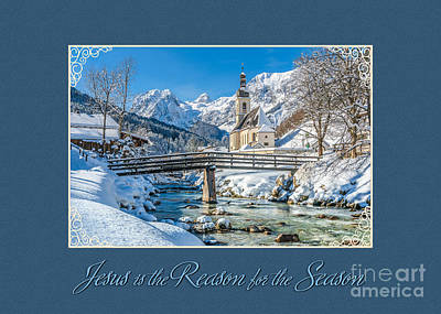 Digital Art - Beautiful Wintery Landscape Christmas by JH Designs