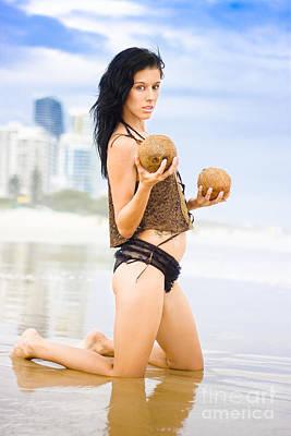 Bathing Photograph - Beautiful Woman In Beach Heaven by Jorgo Photography - Wall Art Gallery