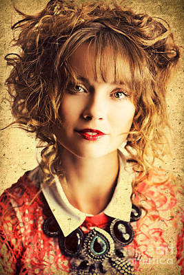 Beautiful Woman With Classic Hairstyle And Makeup Print by Jorgo Photography - Wall Art Gallery