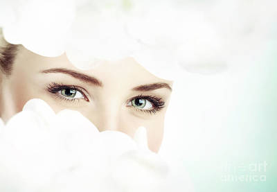 Photograph - Beautiful Women's Eyes by Anna Om
