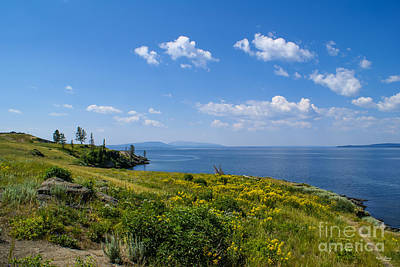 Photograph - Beautiful Yellowstone Lake by Jennifer White