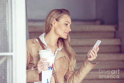 Photograph - Beautiful Young Businesswoman by Anna Om