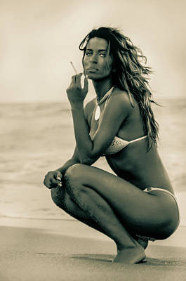 Photograph - Tatyana At The Beach by Amyn Nasser