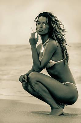 Photograph - Tatyana At The Beach by Amyn Nasser