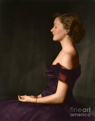 Photograph - Beautiful Ziegfeld Girl Seated by R Muirhead Art