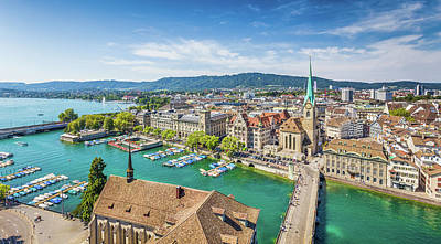 Photograph - Beautiful Zurich by JR Photography