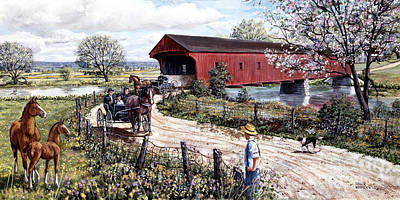 Beautiful Spring Day Art Print by Roger Witmer
