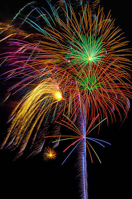 Photograph - Beautifully Stunning Fireworks by Garry Gay