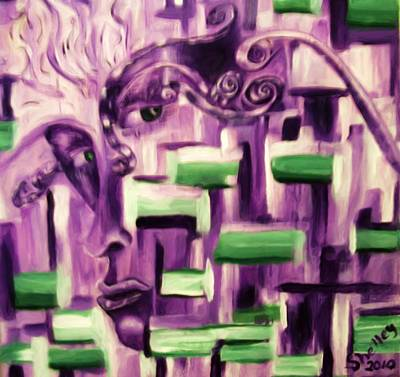Painting - Beautifully Ugly Envy by Shelley Bain