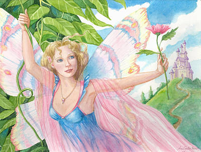 Painting - Beauty Admires Beauty by Ann Gates Fiser