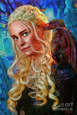 Photograph -  Beauty And Her Flying Dragon by Blake Richards