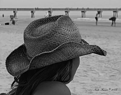 Cowboy Hat Photograph - Beauty And The Beach  by Nada Frazier