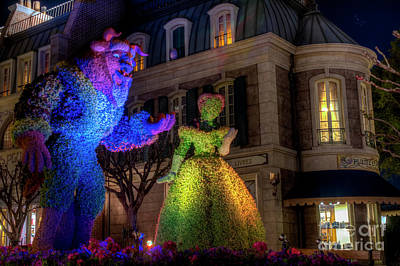 Photograph - Beauty And The Beast Night Stroll by Luis Garcia