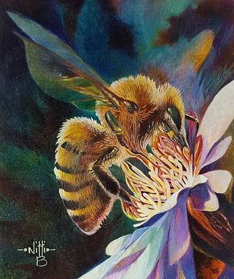 Painting - Beauty And The Bee by NJ Brockman