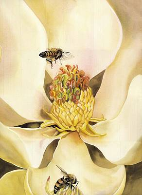 Painting - Beauty And The Bees by Alfred Ng