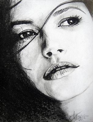 Catherine White Drawing - Beauty by Ann Supan