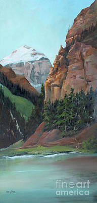 Painting - Beauty At Lake Louise by Marta Styk