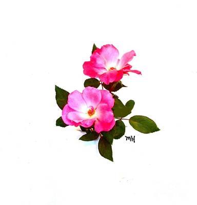 Beauty Baby Roses Art Print