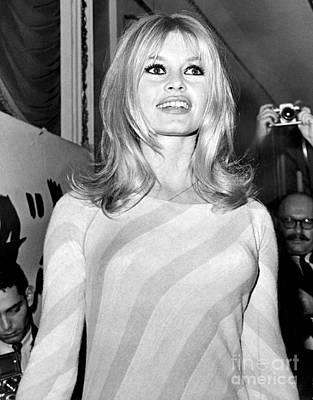 Brigitte Photograph - Beauty Brigitte Bardot Smiles For The Camera. by Anthony Calvacca