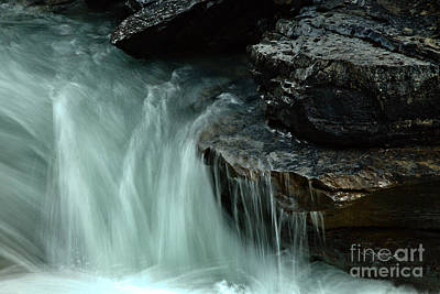 Beauty Creek Steaming Over The Edge Art Print