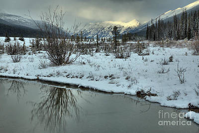 Photograph - Beauty Creek Winter Reflections by Adam Jewell