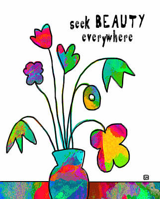 Art Print featuring the painting Beauty Everywhere by Lisa Weedn