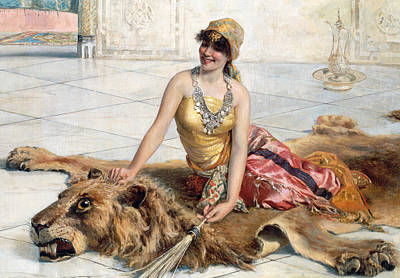 Paws Painting - Beauty From The Harem by Adolfo Belimbau
