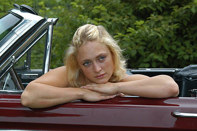 Photograph - Beauty In A Convertible  by Mike Martin