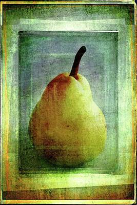 Photograph - Beauty In A Pear by Alice Gipson