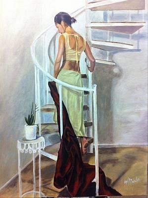 Beauty In Art Print by Anita  Maharjan