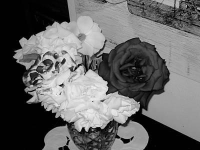 ..beauty In Black And White.... Art Print by Adolfo hector Penas alvarado