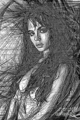 Digital Art - Beauty In Black And White by Rafael Salazar